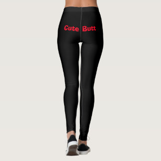 Funny Cute Butt Working Out Leggings