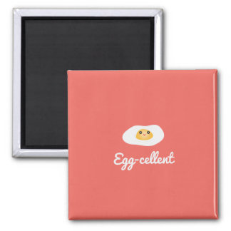 Funny Cute Egg Eggcellent Humorous Food Pun Fun Magnet