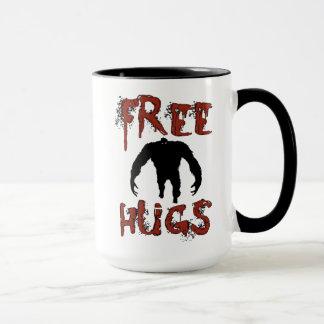 Funny Cute Free Hugs Monster Mug for Halloween