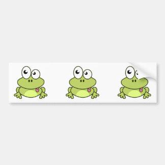 Funny cute frog cartoon bumper sticker