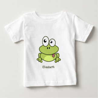 Funny cute frog cartoon name baby shirt