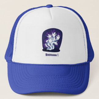 Funny cute ghosts halloween cartoon trucker hat