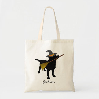 Funny Cute Halloween Black Lab Dog Personalized Tote Bag