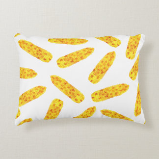 Funny Cute Hand Drawn Summer Corn on the Cob Accent Cushion