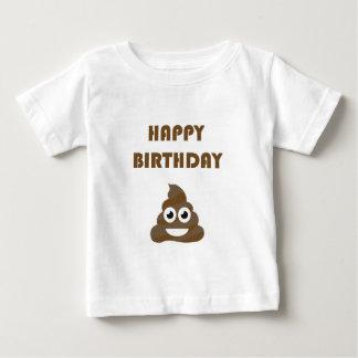 Funny Cute Happy Birthday Party Poop Emoji Baby T-Shirt