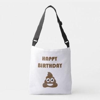 Funny Cute Happy Birthday Party Poop Emoji Crossbody Bag