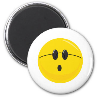 funny cute hippie smiley face magnet