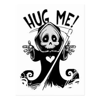 Funny Cute Hug Me Grim Reaper Postcard