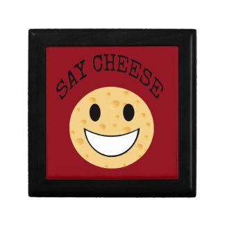 funny cute joke say cheese gift box