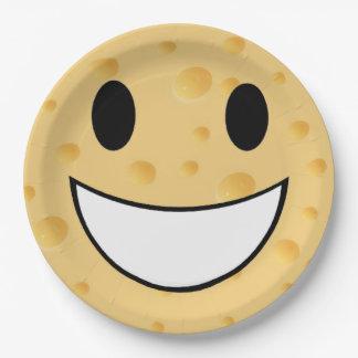 funny cute joke say cheese paper plate