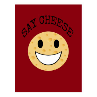 funny cute joke say cheese postcard