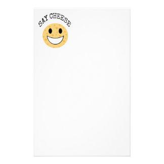 funny cute joke say cheese stationery