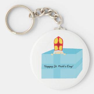 Funny Cute Kids Art St. Nicholas Sinterklaas Key Ring