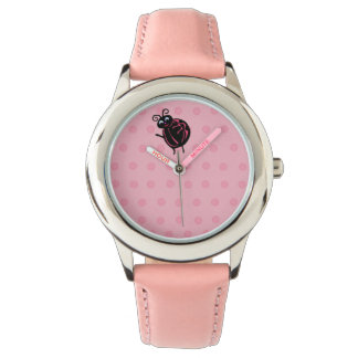 Funny Cute Ladybug Kids Girls Wrist Watch
