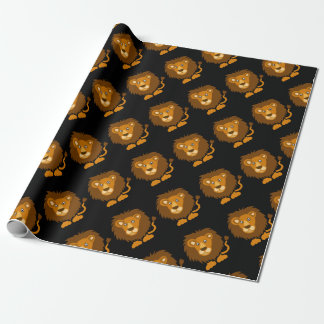 Funny Cute Lion Art Original Wrapping Paper