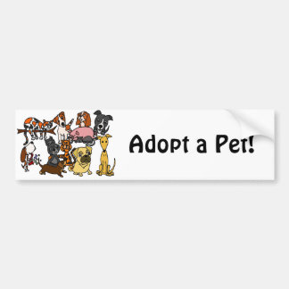 Funny Cute Pets Abstract Art Bumper Sticker