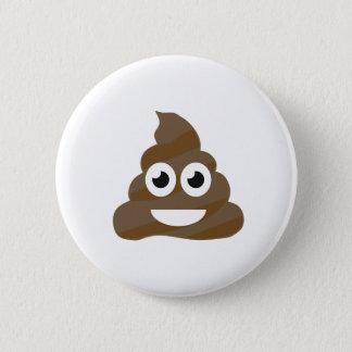 Funny Cute Poop Emoji 6 Cm Round Badge