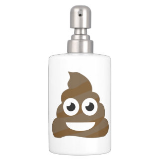 Funny Cute Poop Emoji Bathroom Set