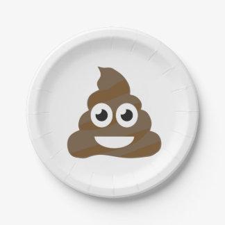 Funny Cute Poop Emoji Paper Plate