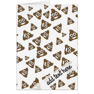 Funny Cute Poop Emoji Pattern Card