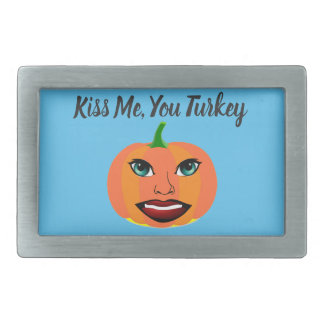Funny Cute Pumpkin Customizable Rectangular Belt Buckles