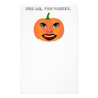 Funny Cute Pumpkin Customizable Stationery