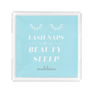 Funny Cute Quote Lash Nap Cosmetic Tray