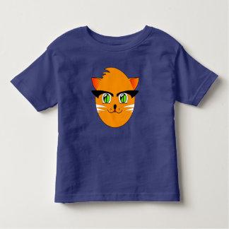 Funny Cute Smiling Cartoon Cat Toddlers T-Shirt