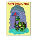 Funny cute turtles Happy Birthday, Mum card design