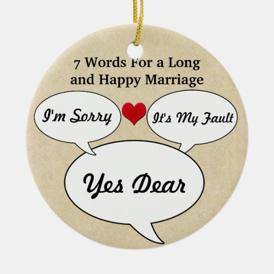 Funny & Cute Wedding Advice Christmas Ornament