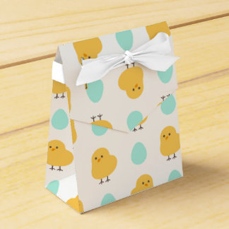 Funny cute yellow chick egg easter illustration favour box