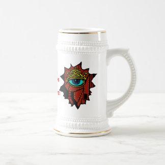 Funny cyborg beer mug