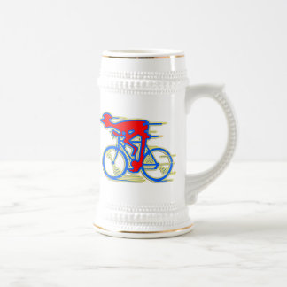 Funny Cycling Abstract Beer Steins