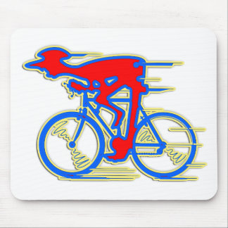 Funny Cycling Abstract Mouse Pads