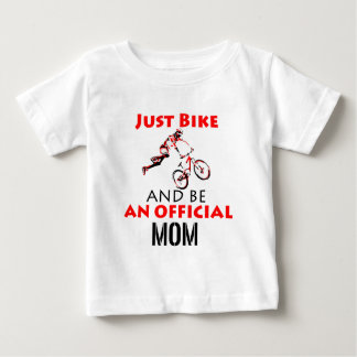 Funny Cycling mom Baby T-Shirt
