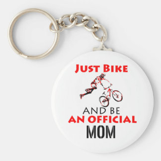 Funny Cycling mom Key Ring