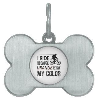 Funny Cycling Tees Pet ID Tag