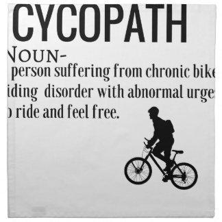 Funny Cycopath Noun Design Dictionary Definition Napkin