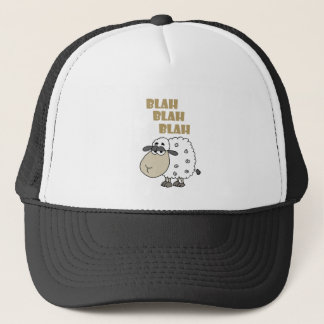 Funny Cynical Sheep says Blah Blah Blah Trucker Hat