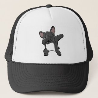 Funny Dabbing French Bulldog T-Shirt Trucker Hat