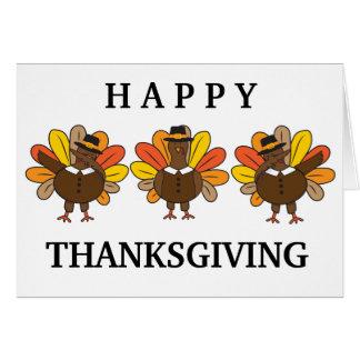 Funny Dabbing Turkeys Thanksgiving Card