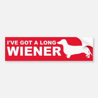 Funny Dachshund (AKA Wiener Dog) Quote Bumper Sticker