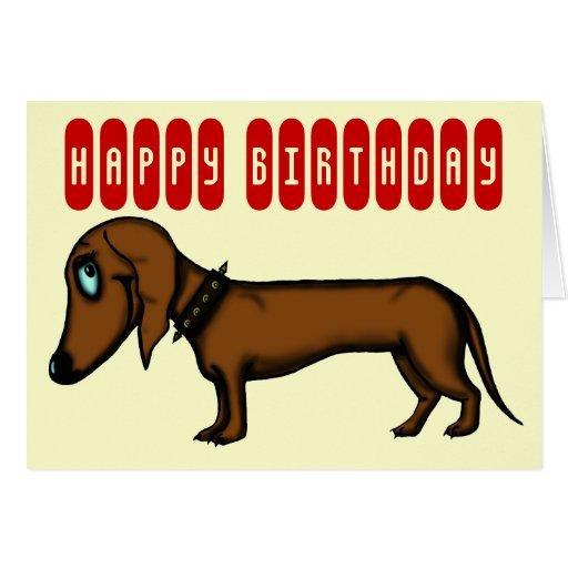 Funny dachshund birthday card