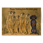 Funny Dachshund Birthday Card From The Gang