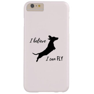 Funny Dachshund iphone case I believe I can fly