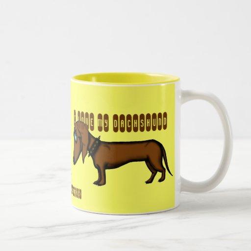 Funny dachshund mug design