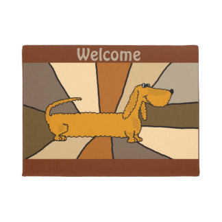 Funny Dachshund Puppy Dog Art Doormat