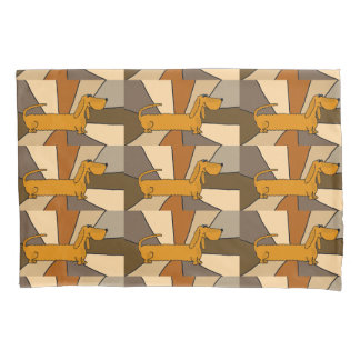 Funny Dachshund Puppy Dog Pillowcase