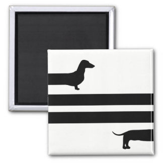 Funny Dachshund silhouette Magnet