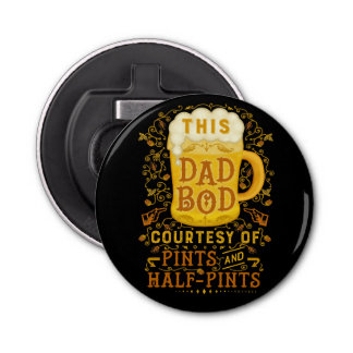 Funny Dad Bod Beer Pints Fathers Day Typography